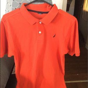 Boys (Large) Orange Nautica Shirt